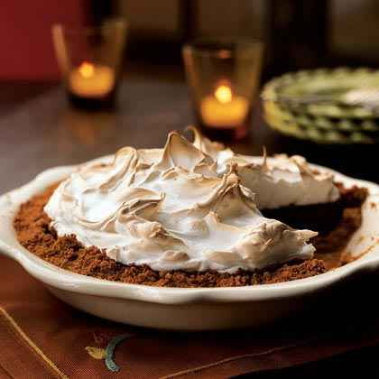 Chocolate-Walnut Meringue Pie