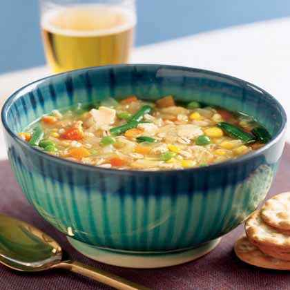 Frozen Vegetables: Chicken and Barley Stew