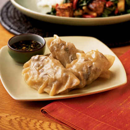 Vegetarian Gyoza with Spicy Dipping Sauce
