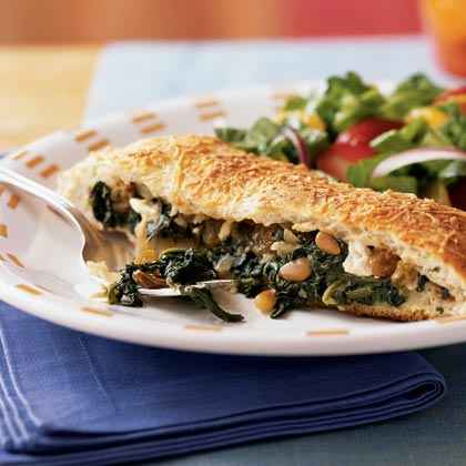 Spinach and Feta-Stuffed Focaccia