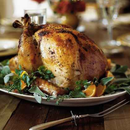 Apple-Cider Brined Turkey with Savory Herb Gravy