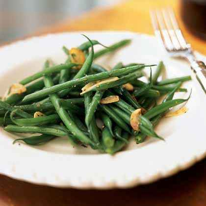 Haricots Verts with Browned Garlic