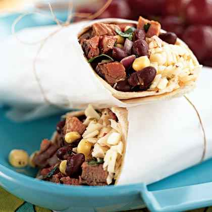 Steak: Southwestern Steak, Corn, and Black Bean Wraps