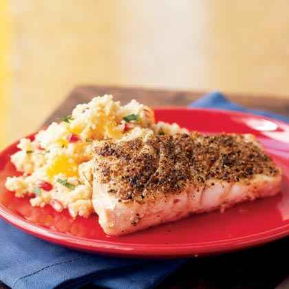 Grouper with Browned Butter-Orange Couscous
