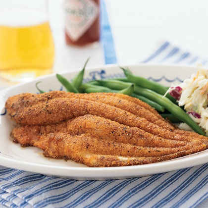 Fast and easy new orleans style dishes myrecipes for Cornmeal fried fish