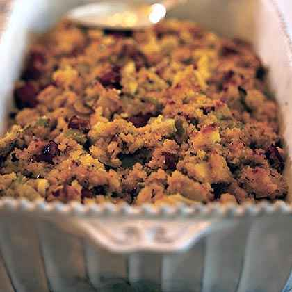 Sausage, Apple, and Fennel Corn Bread Dressing