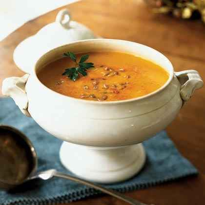 Pumpkin and Yellow Pepper Soup with Smoked Paprika
