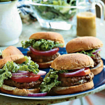 Grilled Blue Cheese Burgers