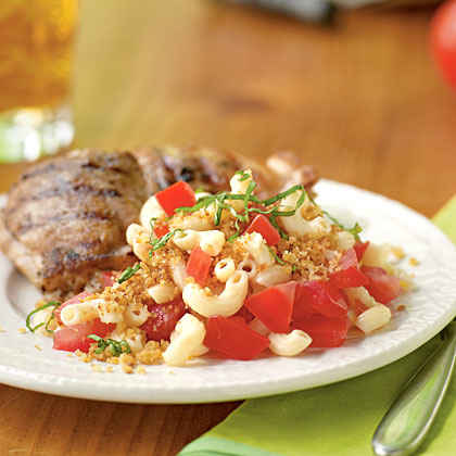 Macaroni Salad with Summer Tomatoes