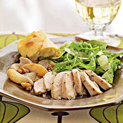 Roast Chicken with Pears