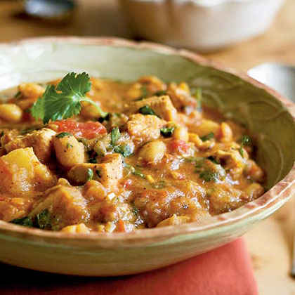 Sweet and Spicy Chicken and White Bean Stew