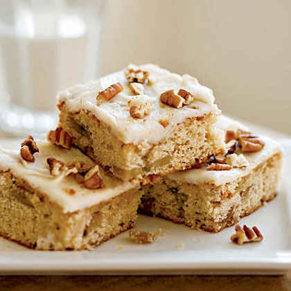 Banana Bars with Pecan Frosting