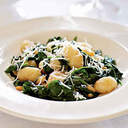 Folic Acid: Brown Butter Gnocchi with Spinach and Pine Nuts