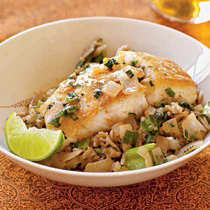 Halibut with Curry Sauce