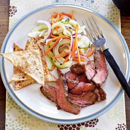 Flank Steak with Asian Cucumber Salad