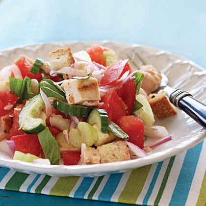 Quick Panzanella with Chicken