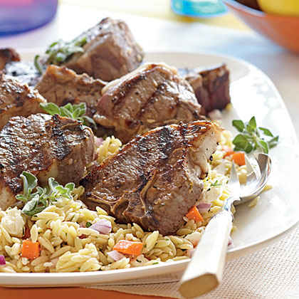 Lemon-Oregano Lamb Chops