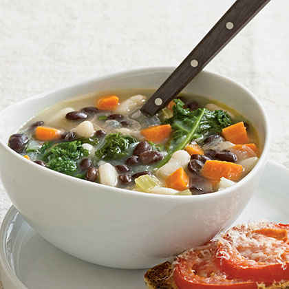 Two-Bean Soup with Kale