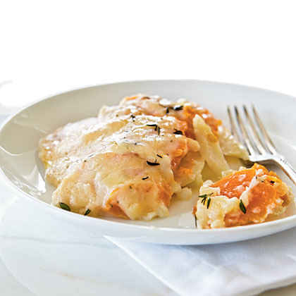 Sweet Potato and Butternut Gratin