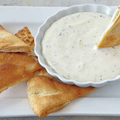 Pita Chips with Goat Cheese Dip