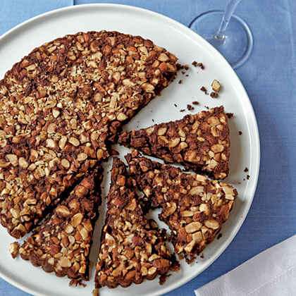 Upside-Down Fudge-Almond Tart