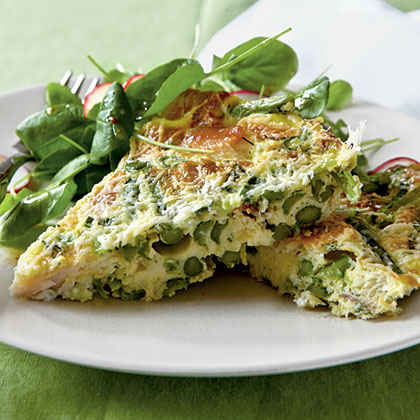 Asparagus and Smoked Trout Frittata Menu