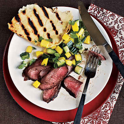 Grilled Steak with Fresh Mango Salsa Menu
