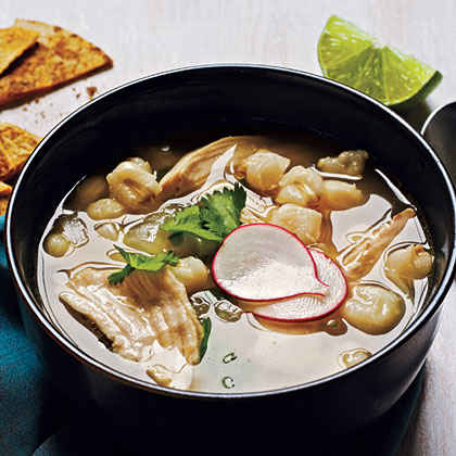 Mexican Chicken-Hominy Soup