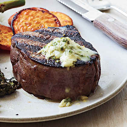 Steak with Chive-Horseradish Butter