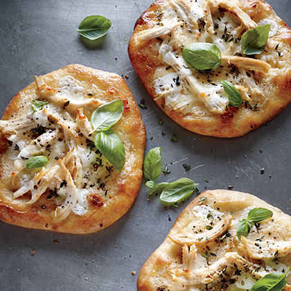 Individual White Chicken Pizzas