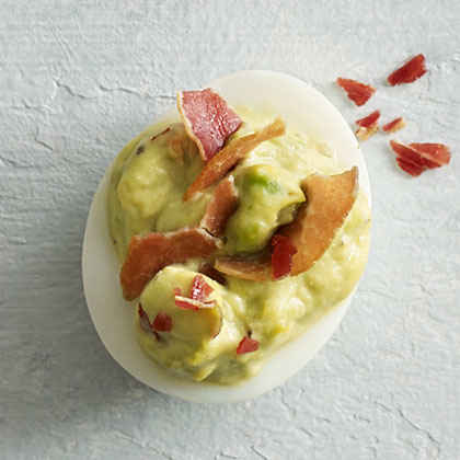 Green Eggs and Ham Deviled Eggs
