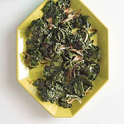 Wilted Kale with Toasted Shallots