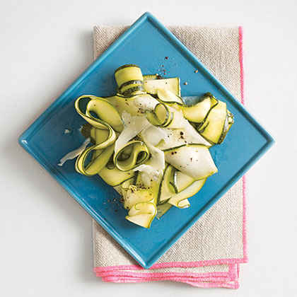 Zucchini Ribbons with Lemon and Pecorino