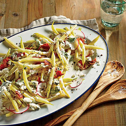 Wax Bean and Radish Salad with Creamy Parsley Dressing
