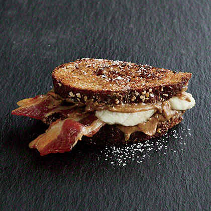 Banana-Bacon Sandwich Snack