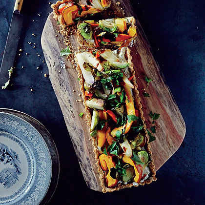 Savory Harvest Vegetable Tart with Toasted Quinoa Crust