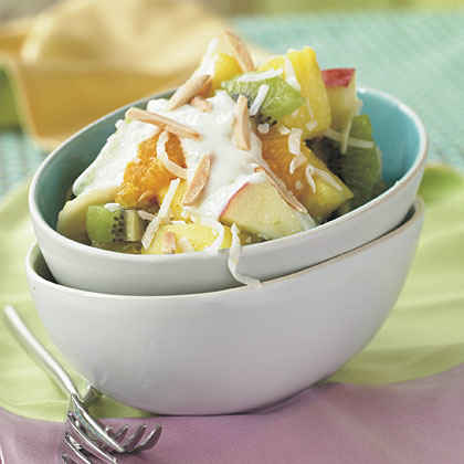 Fruit Salad with Honey-Yogurt Sauce