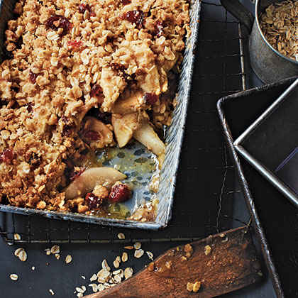 Apple, Pear, and Cranberry Crisp