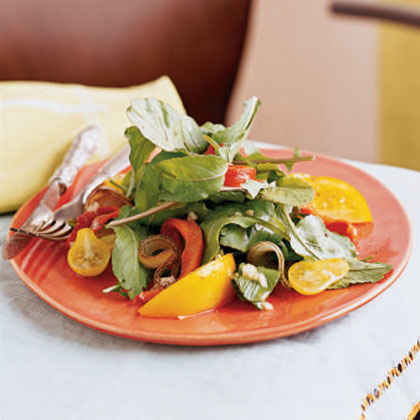 Grilled Vegetable, Arugula, and Yellow Tomato Salad