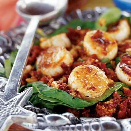 Spinach and Scallop Salad