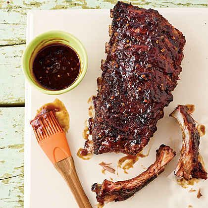 Jamaican Ribs with Sticky Rum BBQ Sauce