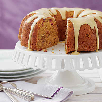 Pumpkin-Cranberry Coffee Cake