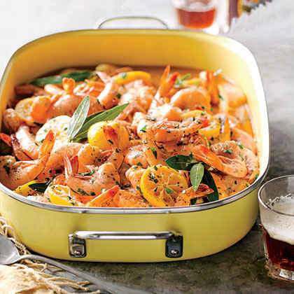 Beer-Braised BBQ Shrimp