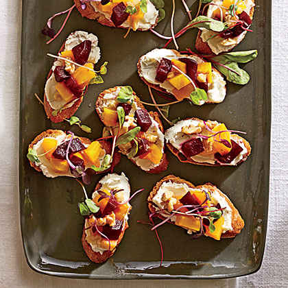 Crostini With Brie Dates And Toasted Walnuts Recipes — Dishmaps