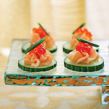 Dazzling gourmet hors d 39 oeuvres myrecipes for Canape spread