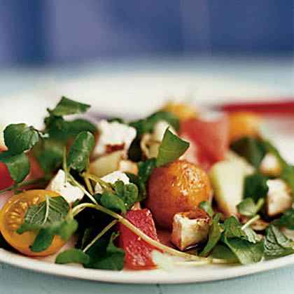 Summer Melon Salad with Feta and Mint
