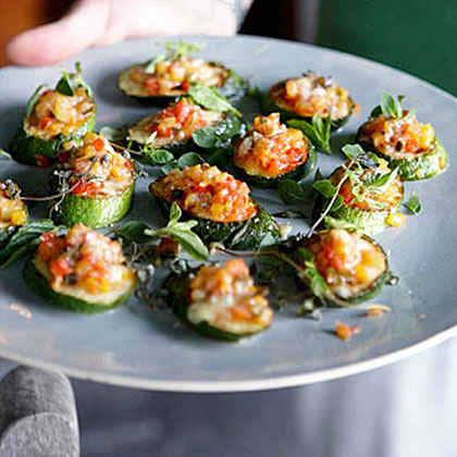 Zucchini-and-Pepper Gratin with Herbs and Cheese