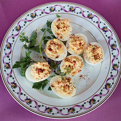 Smoked-Salmon Deviled Eggs