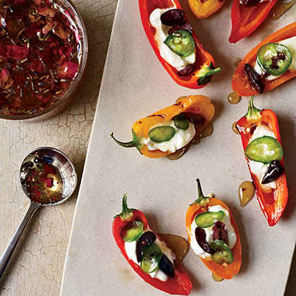 Stuffed Baby Peppers with Yogurt and Floral Honey