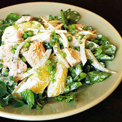Salmon, Fennel, and Potato Salad with Sour-Cream Dressing